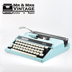 Wilding Light Blue Typewriter - Silver Reed Silverette Patent.