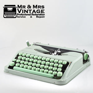 Professionally Serviced Working Baby Hermes Typewriter