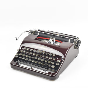 Smith Corona Silent Typewriter in Burgundy