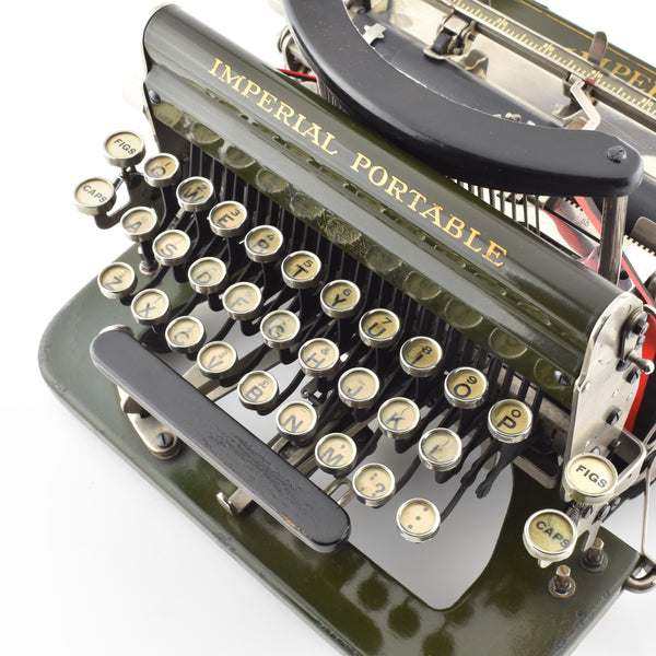 Imperial Model D Green Typewriter