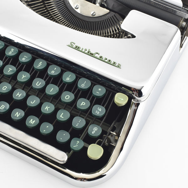 Chrome plated Smith Corona SkyRiter Typewriter