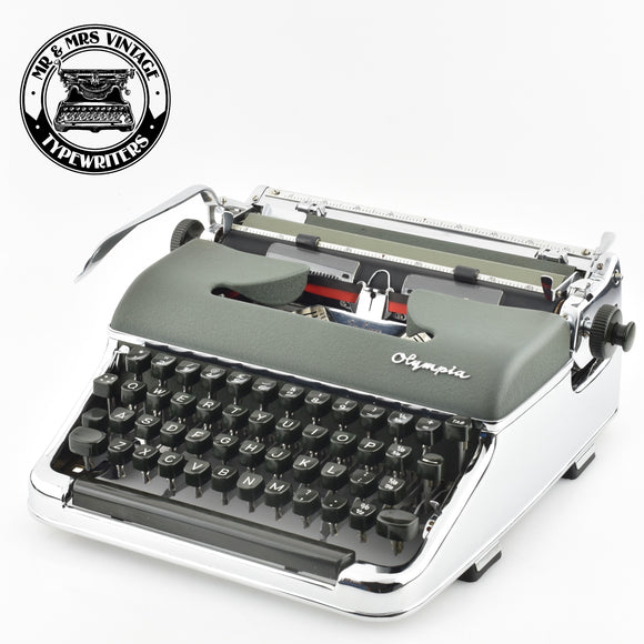 Chrome plated Olympia SM3 Typewriter