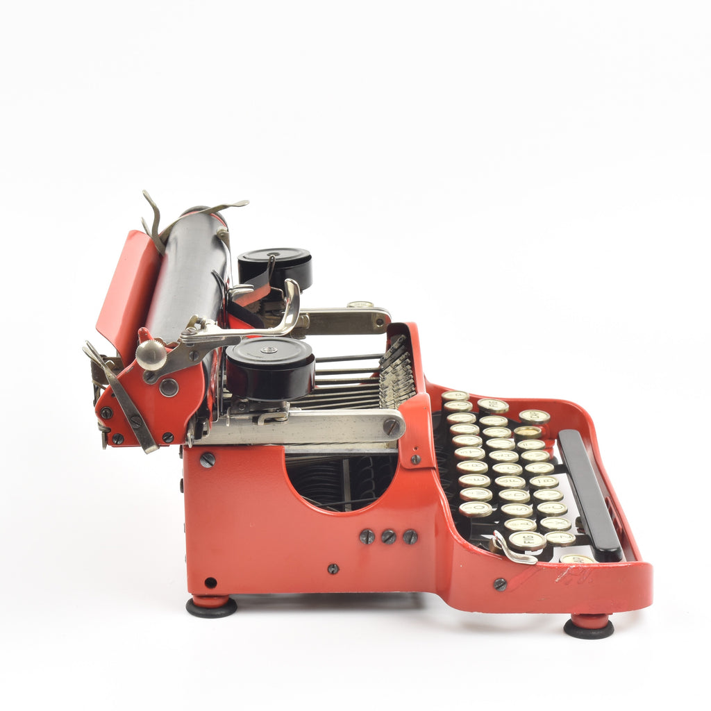 Red Coronet Folding Typewriter