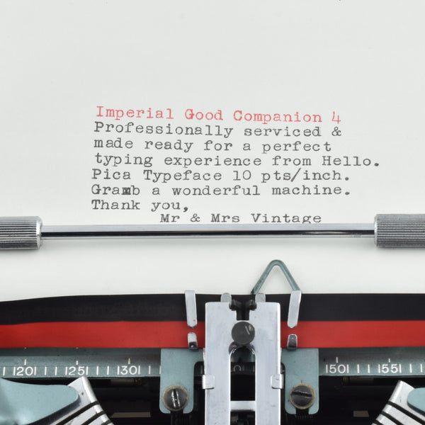 Imperial Good Companion Model 4 typewriter typeface