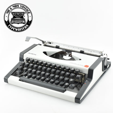 "Olympia Traveller Deluxe Typewriter ""Cursive Typeface"""