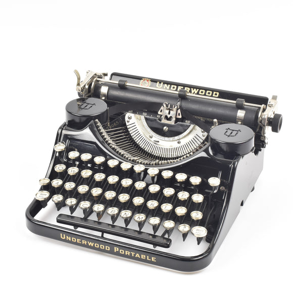 Underwood Standard Portable 4 Bank Typewriter