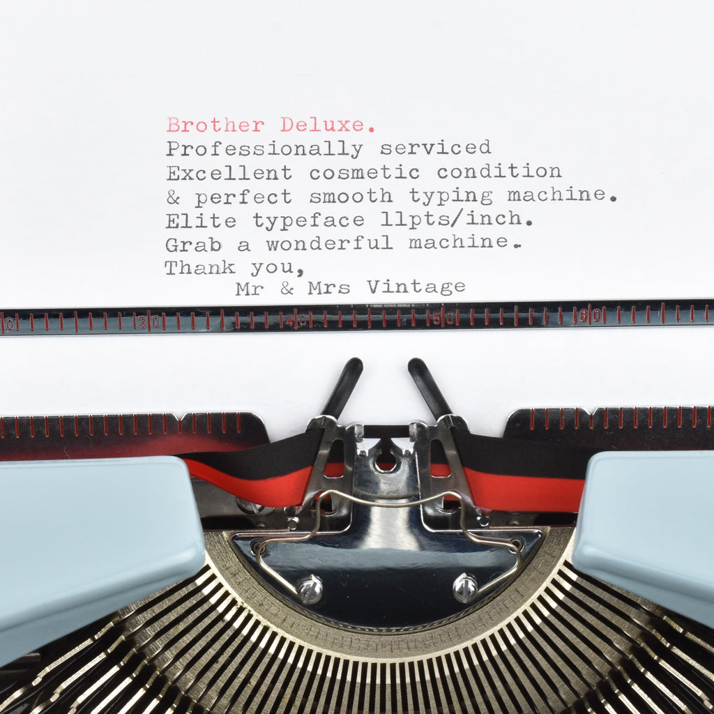 Brother De luxe Typewriter typeface
