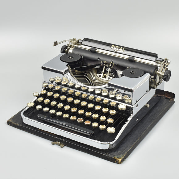 Chrome plated Royal P Typewriter