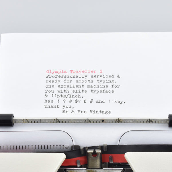 Olympia Traveller Deluxe S Typewriter typeface