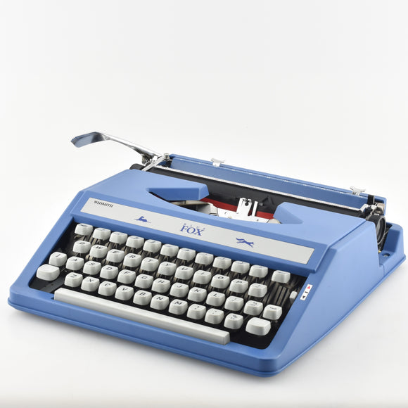 BOXED WH Smith BLUE Fox Typewriter