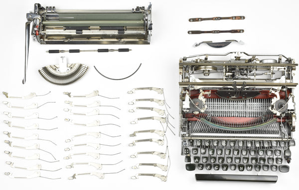 "Chrome plated Olympia SM3 Typewriter ""New Platen"""