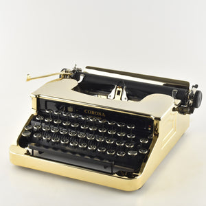 Gold plated Corona Standard Typewriter