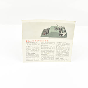 Original Olivetti Lettera 32 typewriter manual instructions