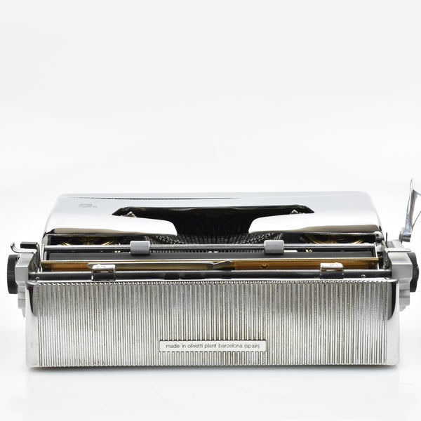 Chrome Plated Olivetti Lettera 32 Typewriter