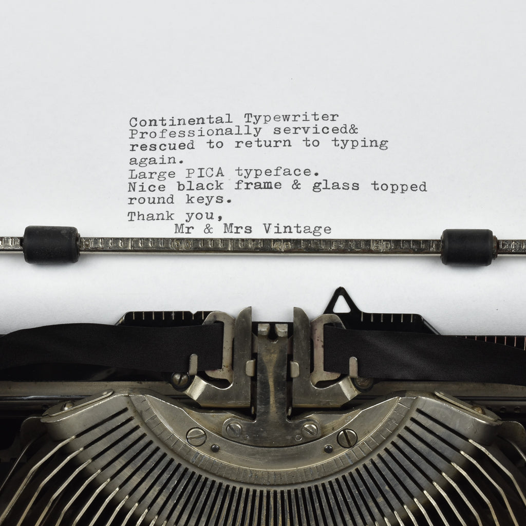 Continental Model Typewriter typeface
