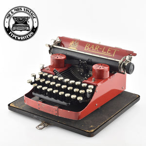 Bar LET Typewriter