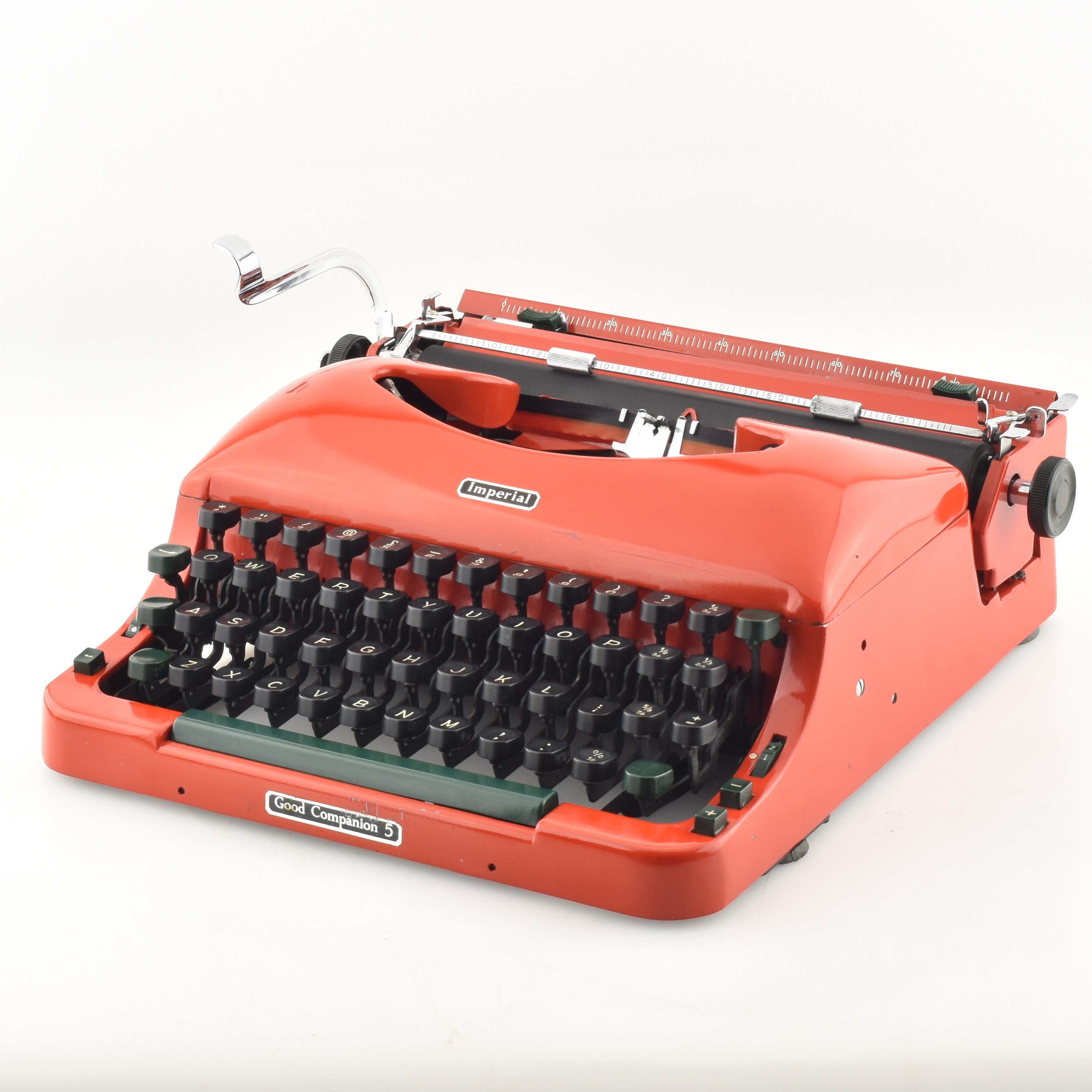IMPERIAL GOOD COMPANION 1 *BLACK//RED*TYPEWRITER RIBBON-MANUAL WIND+INSTRUCTIONS