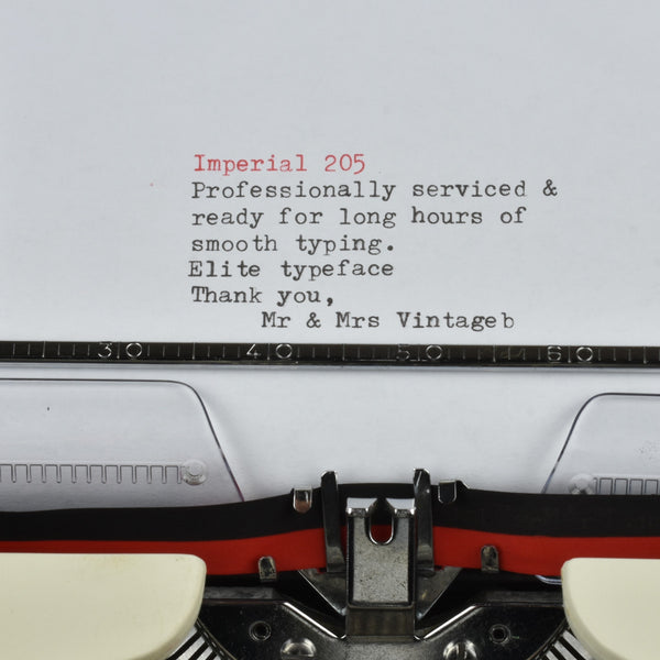 Imperial 205 Typewriter