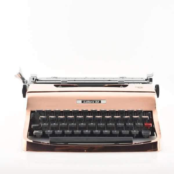 Copper plated Olivetti Lettera 32 Typewriter (Rose Gold Colour)