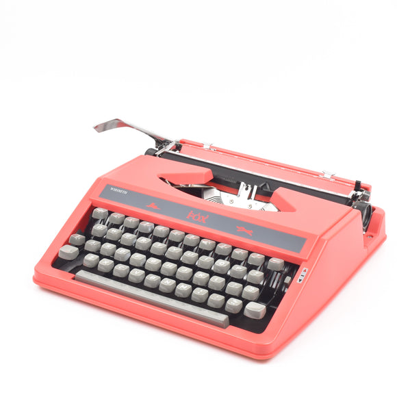 WH Smith Red Fox typewriter
