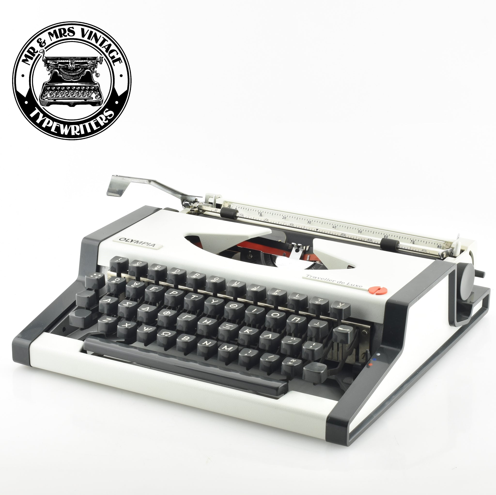 "Olympia Traveller Deluxe Typewriter ""Greek Keyboard"""
