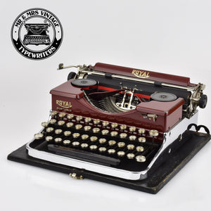 Royal P Typewriter - Burgundy Chrome