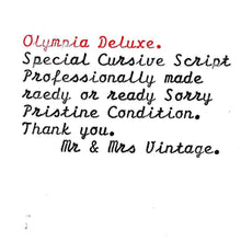 "Olympia SF Deluxe Typewriter ""Cursive Script Font/Typeface"""