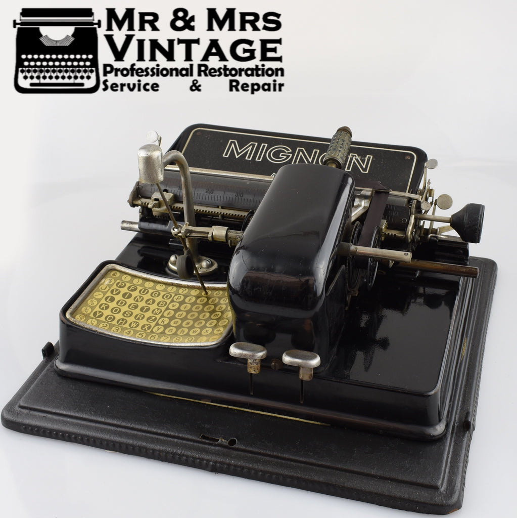 Mignon Aeg Index Typewriter