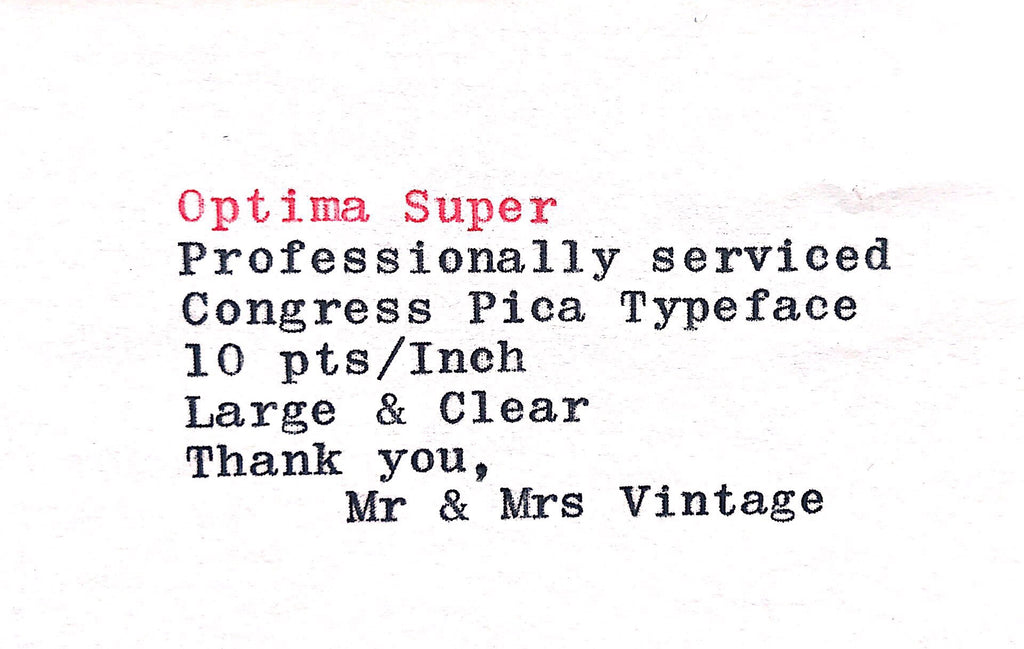 Optima Super Typewriter