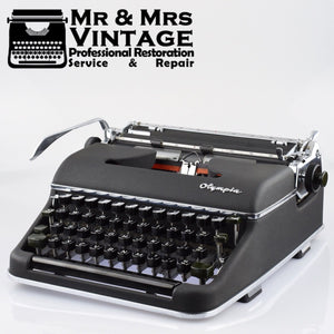 Olympia SM3 Black Typewriter