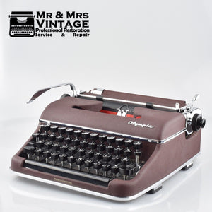 Olympia SM2 in Burgundy - the Early SM3 version like used by Woody Allen