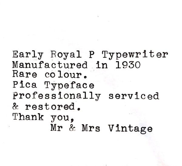Royal P Wood Grain Typewriter