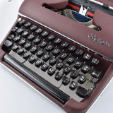 Olympia Burgundy SM2 Typewriter. The Early SM3