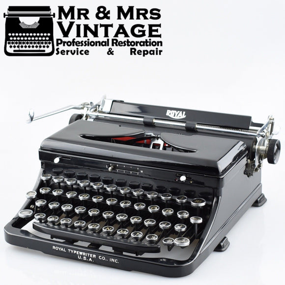 Royal A Typewriter in Glossy Black