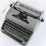 Olympia SM3 Typewriter in Green Matte