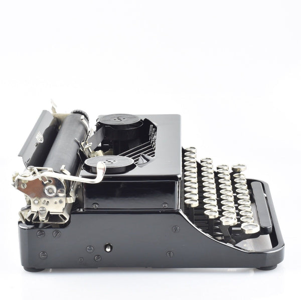 Royal Junior Typewriter in Black Gloss & Glass Topped Keys