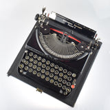 Pristine Remington 5 Portable Typewriter Working Black Red Ribbon Vintage