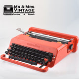 Olivetti Red Valentine Typewriter Made in Spain