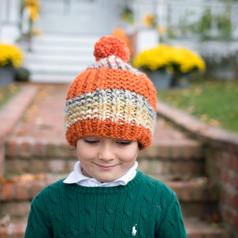 Kid's Beginner Flat Knit Hat