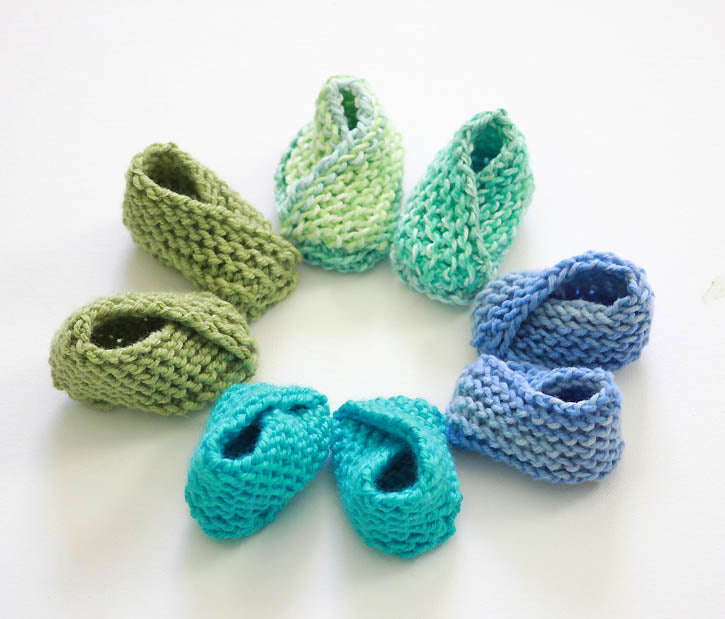 Easiest Baby Booties Ever Knitting Pattern – Gina Michele Knitting