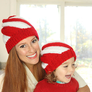 Candy Cane Swirl Hats Knitting Pattern