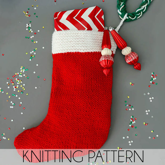 Flat Knit Stocking Knitting Pattern