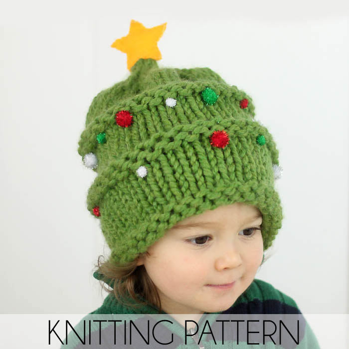 Christmas Tree Hat Knitting Pattern