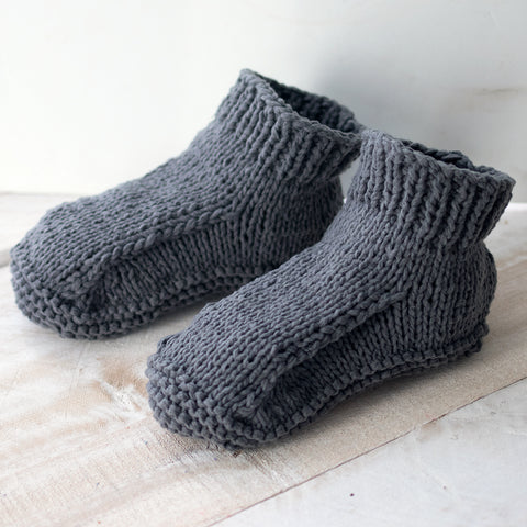 Flat Knit Men's Slippers