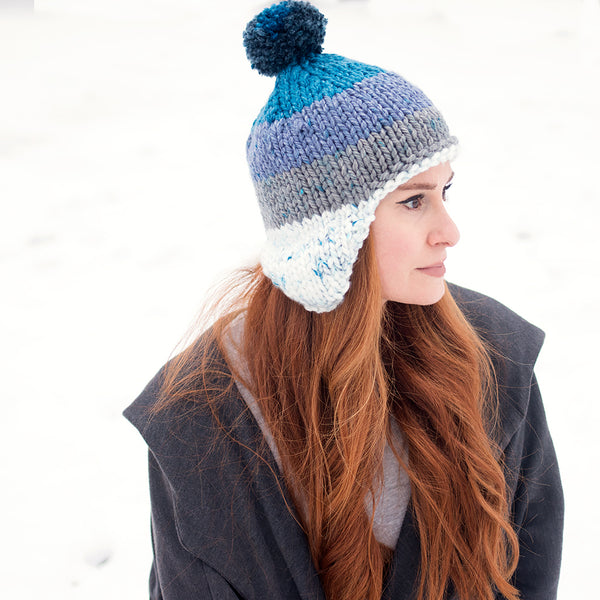 Flat Knit Thick & Quick Hat