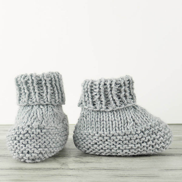 Flat Knit Booties Knitting Pattern
