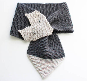 Fox Scarf Knitting Pattern