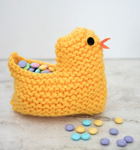 Easy Easter Chick Basket