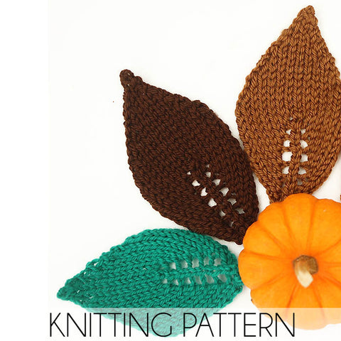 Easy Leaf Knitting Pattern