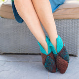 Origami Slippers Knitting Pattern